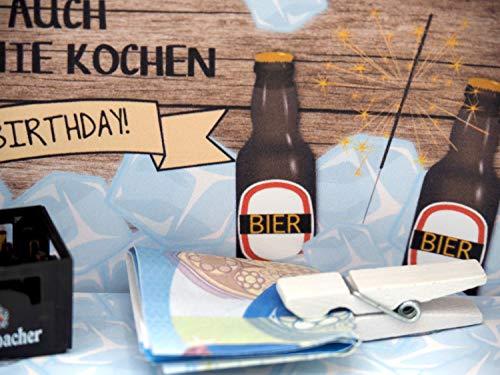 ZauberDeko Geldgeschenk Verpackung Bier Happy Birthday Geschenk Männer Geschenkidee Geburtstagsgeschenk - 4