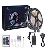 ALED LIGHT 2 x 5 metros (10 m en total) 3528 SMD 300 LED RGB luces de tira, cinta tira LED Flexible con el Regulador IR Colores...