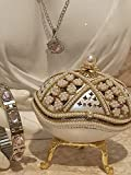 Caja de perlas con diseño de huevo y plata de Faberge musical hecho a mano y collar de corazón rosa de Swarovski para graduado Faberge Egg Joyero para mujer Set de joyas ruso hecho a mano Huevo real