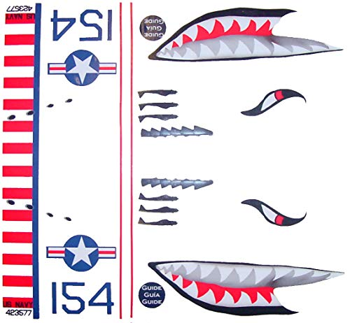 KA Mixer Cover Kit Flying Tiger Shark Plane Decal Sticker Red, White, Navy Blue, and Black, Designed to Fit All Kitchenaid Stand Mixers, Including Pro 600, and Artisan. Mixer Not Included. by FlameKA.com