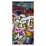wandmotiv24 Türtapete Graffiti Poet 100 x 200cm (B x H) - Vlies Tapete, Tür-Aufkleber, Türbild, Wandbild M0007