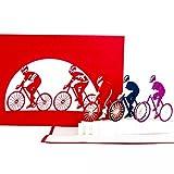 Pop-Up Karte'Radsport – Fahrrad Tour' – Geburtstagskarte Fahrrad – Radtour & Radrennen – als Geschenk & Geschenkverpackung - Geschenkgutschein, Glückwunschkarte & Einladungskarte zum Geburtstag