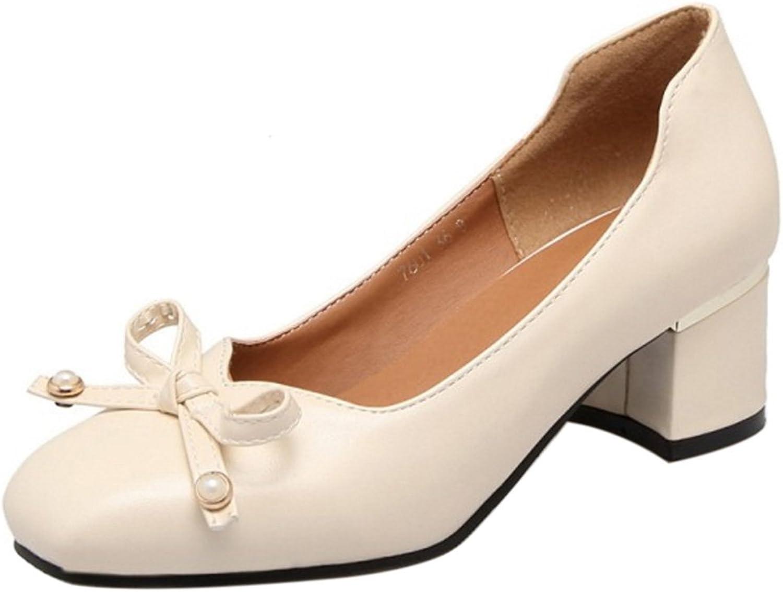 AicciAizzi Women Square Toe Heels Pumps