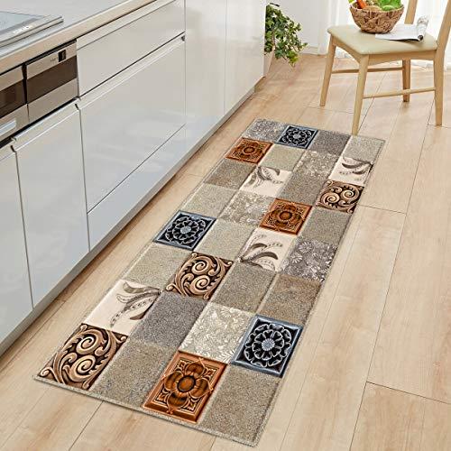 OPLJ Alfombra Bohemia para Cocina, Alfombra Antideslizante para Puerta, Alfombra para Puerta, alfombras para Exteriores, alfombras para el hogar, alfombras A1 60x180cm
