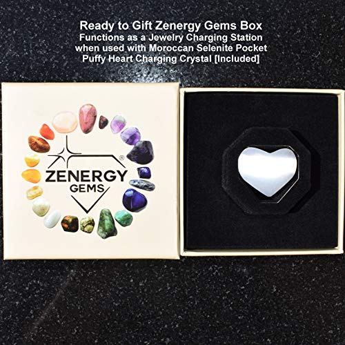 Zenergy Gems Charged Premium Natural Crystal 8mm Bead Bracelet + Moroccan Selenite Charging Crystal [Included]