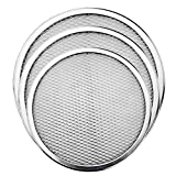 Pizza Screen, 3PCS Aluminum Alloy Seamless Pizza Screen Non Stick Mesh Net Baking Tray Cookware Kitchen Tool For Oven, BBQ 10 inch and 12 inch,14 inch