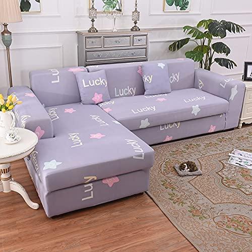 Funda elástica para sofá elástica seccional para Sala de Estar, Funda para sofá en Forma de L, Funda para sillón A17, 4 plazas
