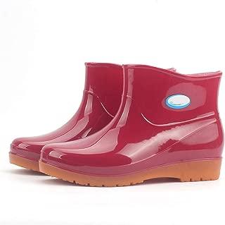 lcky Women's New Waterproof Short Tube Boots Classic rain Boots