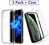 skyLink iPhone XR Screen Protector(3Pack), Plus Bonus Crystal Clear Phone Case. 99% Touch Accurate/Anti-Scratch/High Definition/Worry-Free Installation Frame.