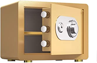 OFF Mechanical Code Digital Security Safe Box for Home Office Hotel Business Jewelry Gun Cash Medication (Color : Gold)