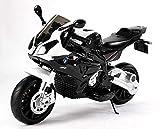 RIRICAR Moto électrique pour Enfants BMW S 1000 RR, véhicule alimenté par Batterie, sous Licence, Roues Souples EVA, Cadre en métal, Double Moteur, Batterie de 12 V