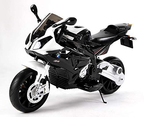 RIRICAR Motocicleta Eléctrica S 1000 RR, Vehículo Alimentado por Batería, Autorizado, Ruedas Suaves de EVA, Marco de Metal, Motor 2 x, Batería de 12V
