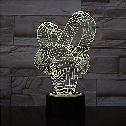 3D illusie nachtlampje Bluetooth Smart Control 7 & 16 M kleur mobiele app LED Vision mountainbike driedimensionale tafel tafel kleurrijk creatief cadeau