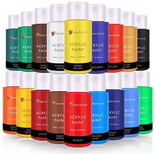 Acrylic Paint Set By Color Technik, Artist Quality, LARGE SET -...