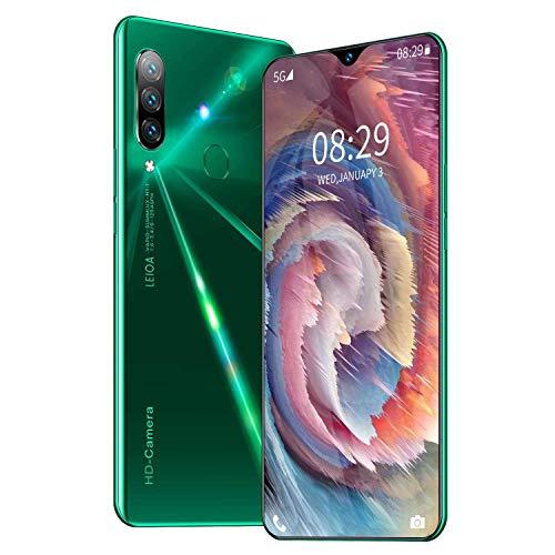 Smartphone ohne Vertrag A70s Günstig 7.5 Zoll HD Display, 5200mAh Akku, 16MP 32MP Dual Kamera, 8GB RAM 256GB ROM, 128 GB erweiterbar Dual SIM Android Handy