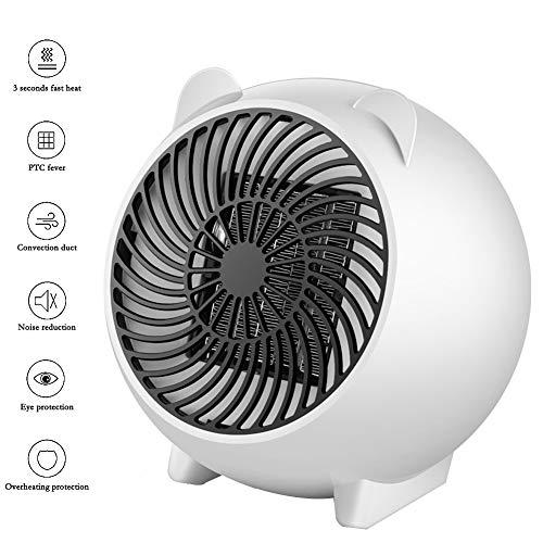 Mini-tafelverwarming, verticale thermostaat met PTC-verwarming en ruisonderdrukking, automatische uitschakeling bij temperaturen boven 120 °C.