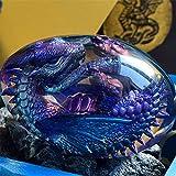 Lava Dragon Egg, Dream Crystal Transparent Dragon Egg, Crystal Clear Dragon Egg Souvenir, Handmade Resin Pocket Lava Dragon Egg - Gift for Game Fans (Mysterious Dragon)