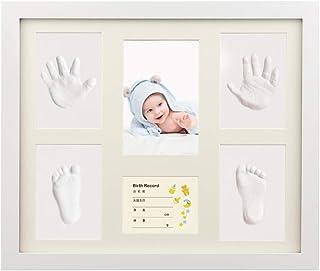 iSiLER ベビーフレーム 手形 足形 フォトフレーム 置き掛け兼用 無毒で安全 赤ちゃん 出産祝い 内祝い ベビー記念品