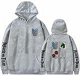 Sudadera con capucha Attack on Titan Legion Scouting Manga Shingeki no Kyojin Cosplay Hoody Jumper Anime Scout Regiment Badge Sudaderas de manga larga, 09 Scout Regiment Insignia, XXL