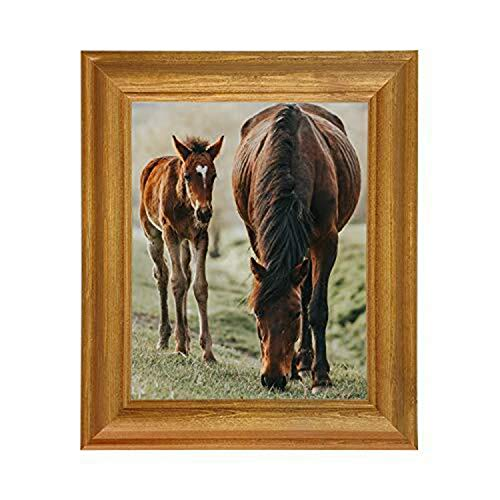 Marco de fotos a medida, acrílico, pino antiguo (19 x 40 cm)