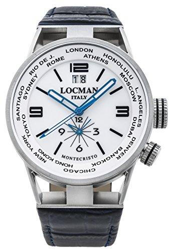[ロックマン] 腕時計 MONTECRISTO WORLD 0508A08S-00WHBKPB メンズ 正規輸入品 ブルー