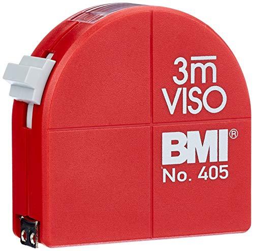 BMI 405341010 Taschenbandmaß Viso mit Innenmessung und Zirkelfunktion, Länge 3 m, weisslackiertes Band