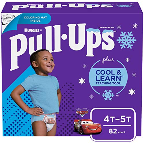Pull ups Cool and Learn Training Pants for Boys, 4t-5t (38-50 lb.), 82 count