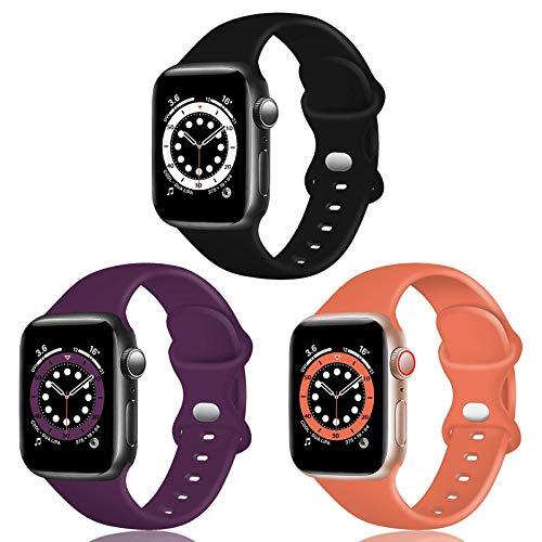 TopPerfekt - Cinturino in silicone compatibile con Apple Watch Strap 42/44 mm, cinturino di ricambio...