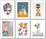 Abstract Wall Art Prints - Midcentury Modern Wall Decor - (Set of 6) - 8x10 - Unframed