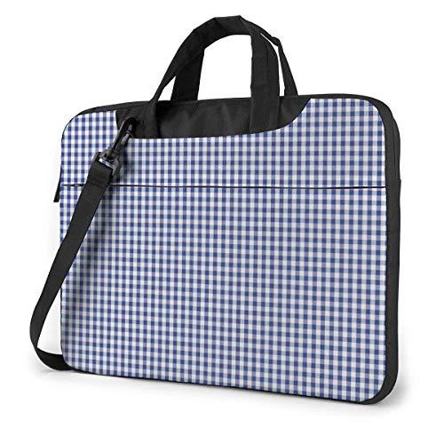 Schoudertas voor laptop 15,6 inch met schouderriem voor laptop blauw net