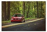 Leinwand-Bild Auto VW Golf 3 III Wandbild Automobil Bilder