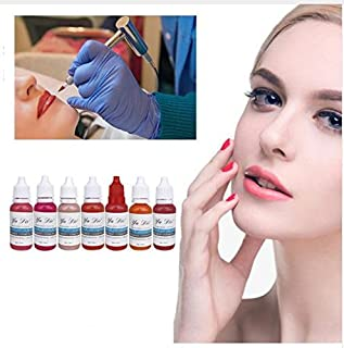 7Pcs Eyebrow Lips Tattoo Permanent Makeup Tattoo ink Pigment Cosmetic Natural Microblading Color goochie pigment