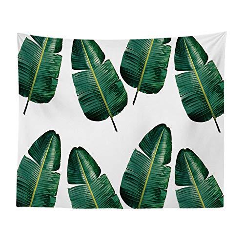jtxqe Pastorale grüne Pflanze Dekoration Tuch Schneeflockendruck hängen Tuch Hauptdekoration Wandverkleidung Tapisserie Neue Strand 839 150-150