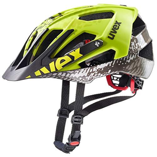 Uvex Unisex– Erwachsene Quatro Fahrradhelm, Mehrfarbig (dirt neon yellow mat/shiny), 52-57 cm