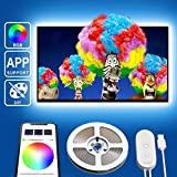 TV Backlights with APP, Govee 6.56FT RGB LED Strip Lights 5050 TV Lights Kits for 40-60 inch TV, Multi DIY Colors Accent Lights with 3M Tape and 5 Clips, Adjustable Brightness, USB Powered
