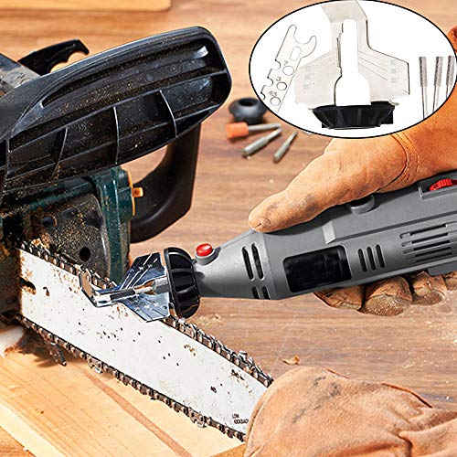 Chainsaw Sharpener, Portable Chainsaw Teeth Sharpener, Rotary Power Drill Hand Sharpener Adapter, Chainsaw Sharpening Stone Grinder Tools