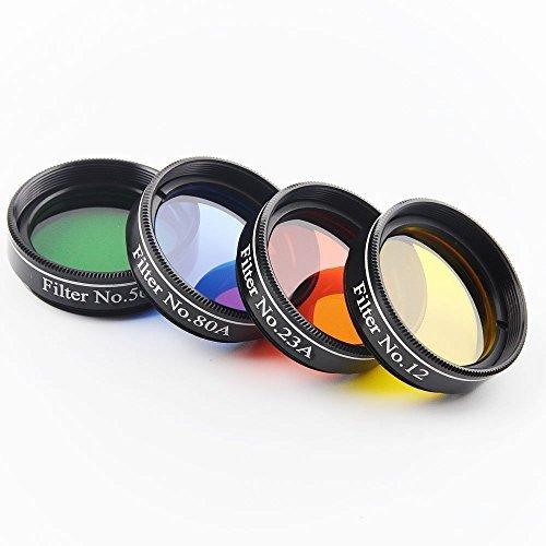 Solomark Optics - Juego 4 filtros Celestron, Orion