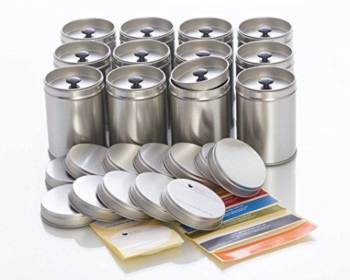12 large spice cans with aroma lid