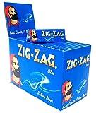zig zag slow burning - Zig Zag Blue Standard Size Rolling Papers - Box of 100 Booklets, Slow Burning