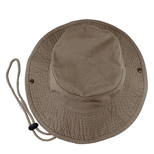 Gelante 100% Cotton Stone-Washed Safari Booney Sun Hats 1910-Khaki-L/XL
