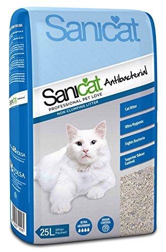 Sanicat Litière absorbante antibactérienne pour Chat 25 litres