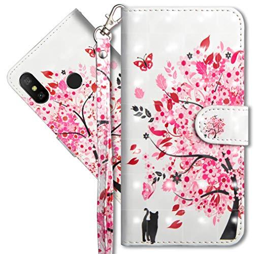 MRSTER Xiaomi Redmi S2 Handytasche, Leder Schutzhülle Brieftasche Hülle Flip Hülle 3D Muster Cover mit Kartenfach Magnet Tasche Handyhüllen für Xiaomi Redmi S2. YX 3D - Tree Cat