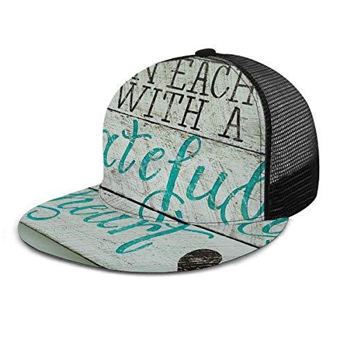 Baseball Cap Beginnen Sie jeden Tag mit einem dankbaren Herz Zitate Adult Unisex Fashion Baseball Caps Verstellbarer Strapback