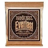 Ernie Ball Everlast Medium Light Coated Phosphorbronze Akustikgitarrensaiten - 12-54 Gauge