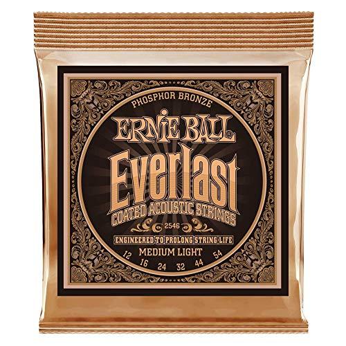Ernie Ball Everlast Medium Light Coated Phosphor Bronze Acoustic Guitar...