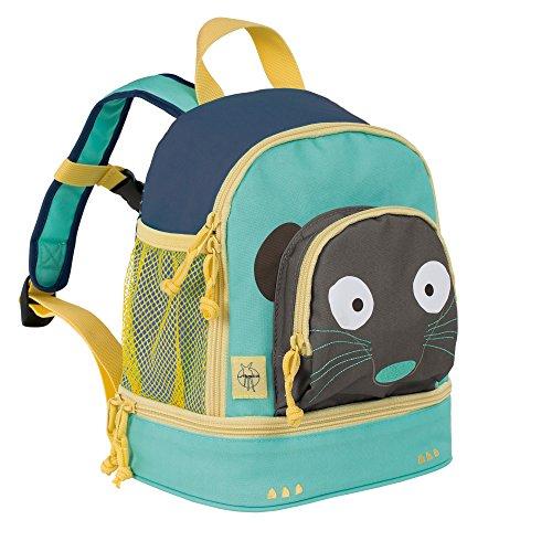 Lässig Lässig Kindergartenrucksack Mini Backpack, Wildlife Erdmännchen Children's 27 cm, Multicolour (Blau)