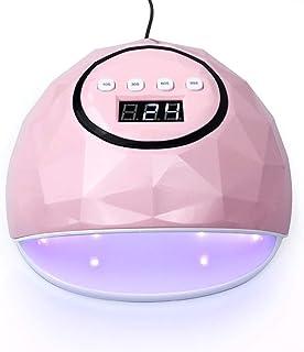 WEIYUE Lámpara de uñas led UV de 72w, Secadora para Curar Gel UV/Gel led/Gel de polímero, máquina de Arte de uñas con 4 ajustes del Temporizador, incorporada 45pcs UV/led Doble lámpara