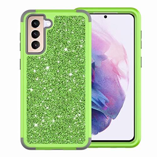 Ufgoszvp Funda para iPhone Xr de doble capa, transparente, brillante, brillante, suave, flexible, TPU para mujeres y niñas, ajuste delgado, a prueba de golpes, color verde