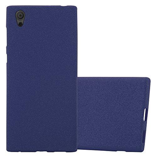 Cadorabo Coque pour Sony Xperia L1 en Frost Bleu FONCÉ - Housse Protection Souple en Silicone TPU avec Anti-Choc et Anti-Rayures - Ultra Slim Fin Gel Case Cover Bumper