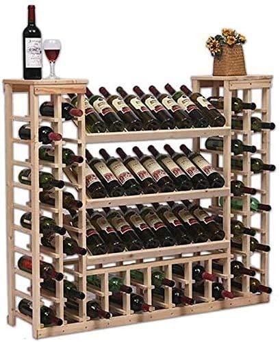 COLiJOL Alenamiento de Vino Estante de Vino Estante de Alenamiento Soporte de Exhibición de Madera Estante de Exhibición de Vino de Pie Estante de Exhibición Alenamiento de Madera Iza